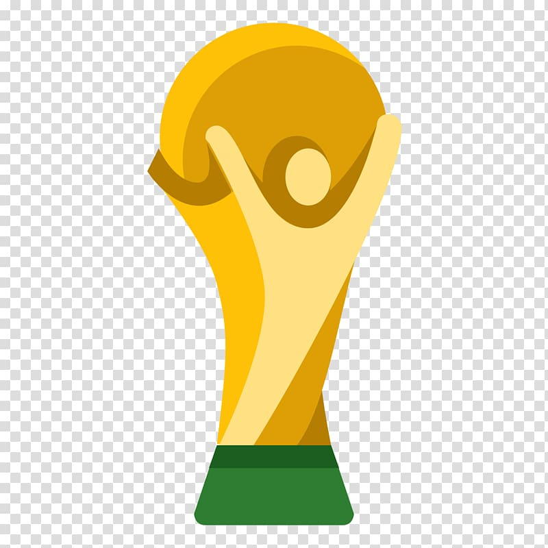 Gold and green trophy illustration, FIFA World Cup Computer.