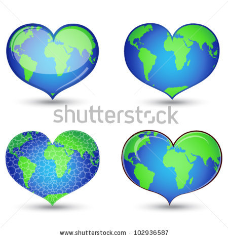 Heart Shaped Globe Stock Photos, Royalty.
