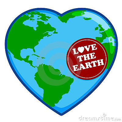Love The Earth Heart Shaped Clip Art Royalty Free Stock.