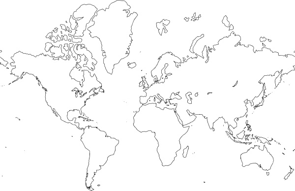 World Map Clip Art Free Vector In Open Office Drawing Svg ( .svg.