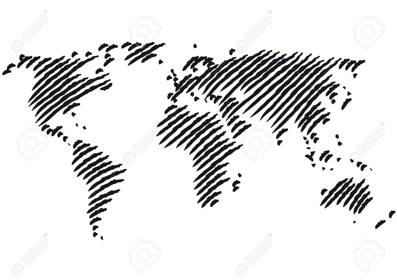 Clipart world map outline clipground 50943 world map outline cliparts stock vector and royalty free gumiabroncs Image collections