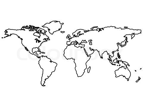 Clipart world map outline clipground 25 best ideas about world map outline on pinterest gumiabroncs Gallery