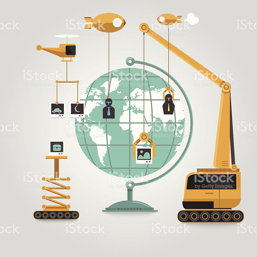 World Media Construction stock vector art 507060521.