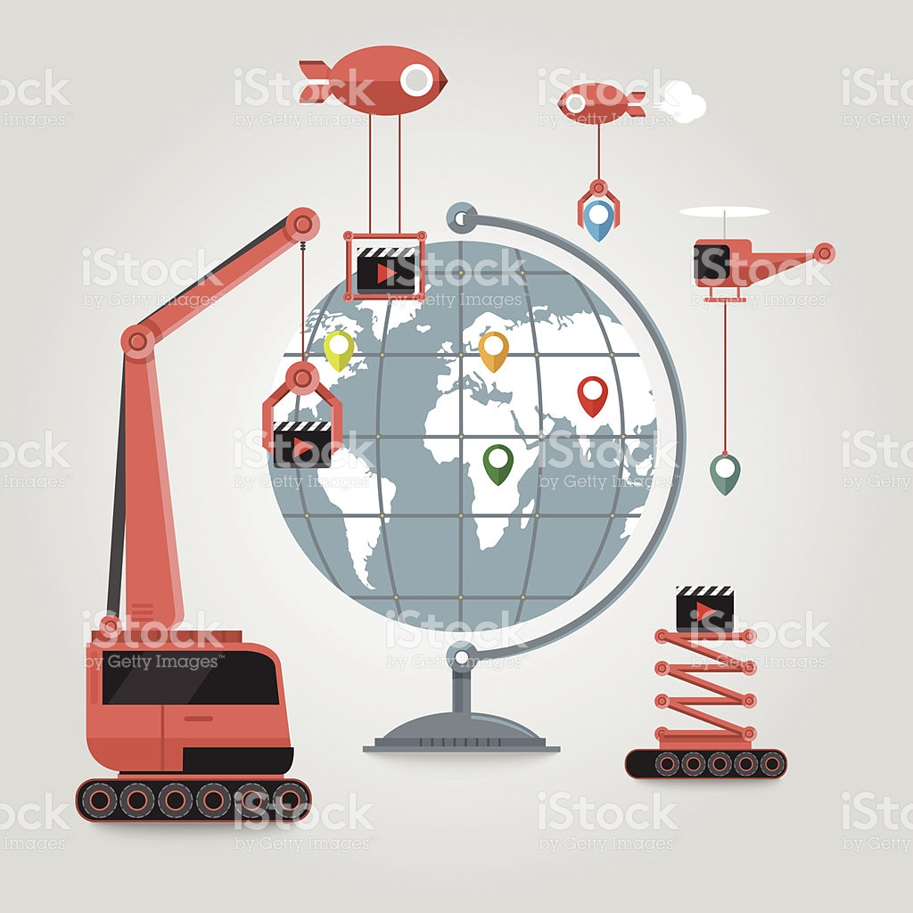 World Media Construction stock vector art 507060555.