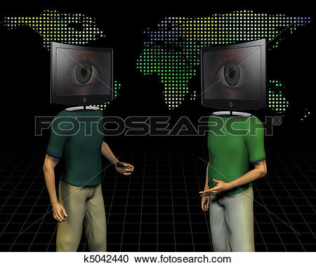 Stock Illustrations of World media talk k5042440.