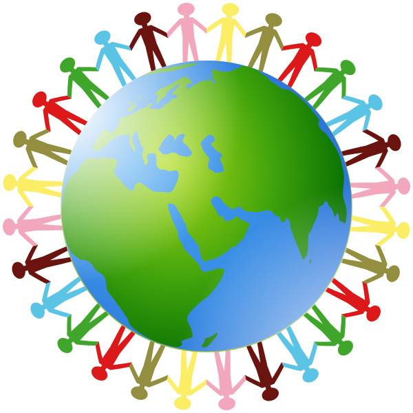 World With People Clipart.