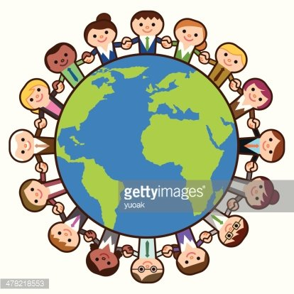 Business people around the world Clipart Image.