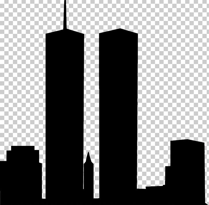 Silhouette Architecture World Trade Center Skyline Drawing.