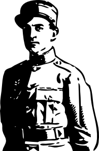 World War 1 Officer Clip Art at Clker.com.