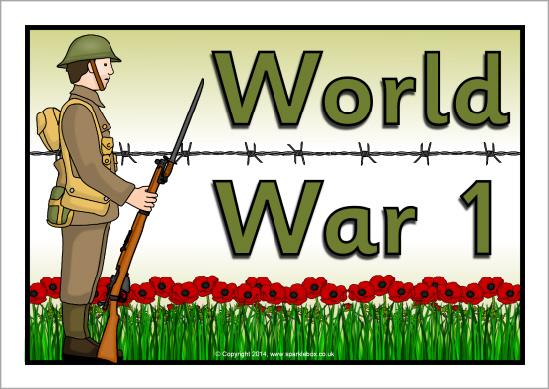 World War 1 A4 page borders (SB10950).