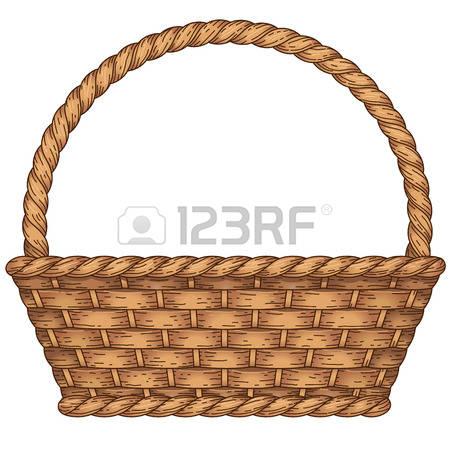 Woven Basket Clipart.