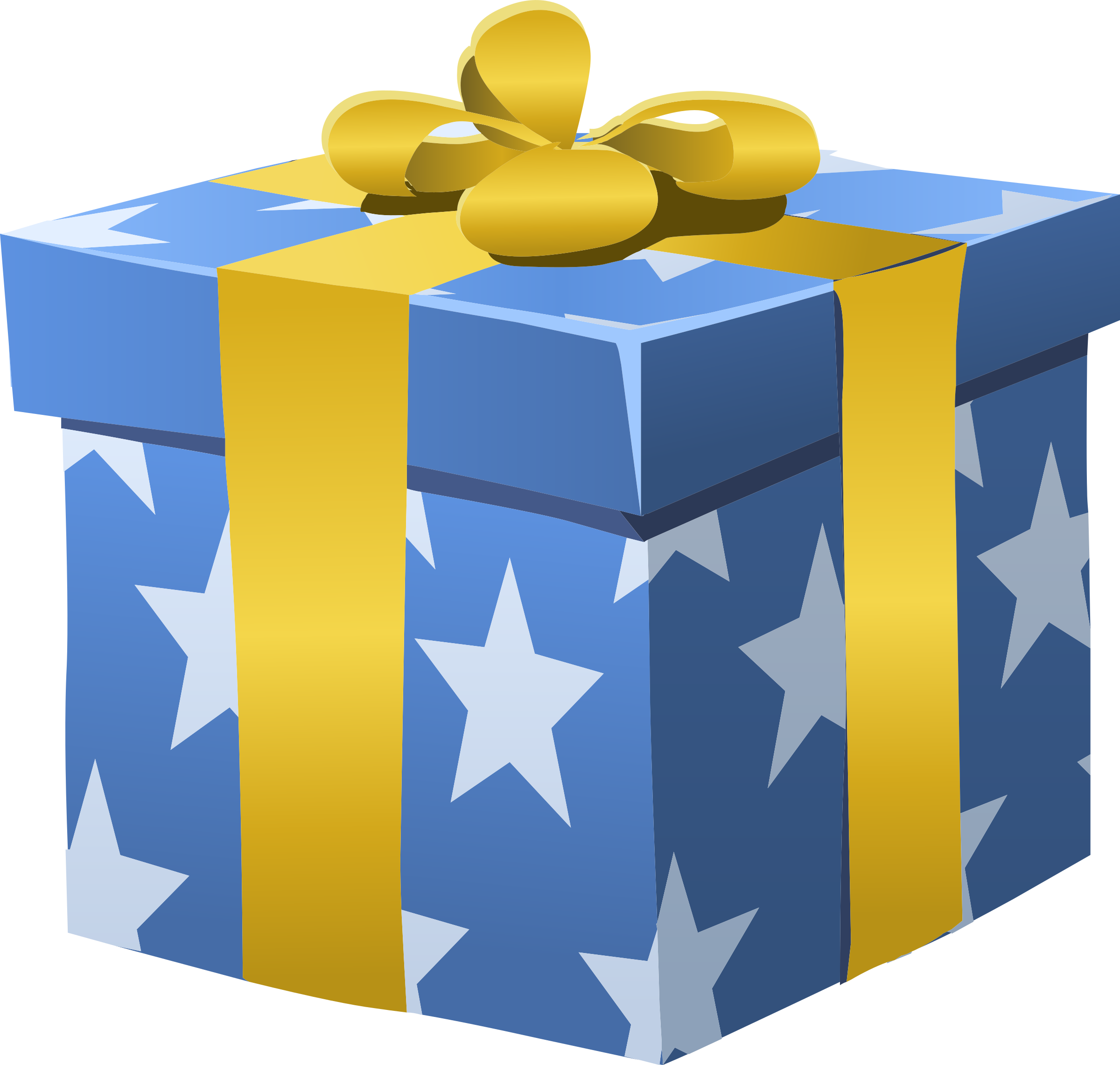 Wrapped Gift Box Clipart.