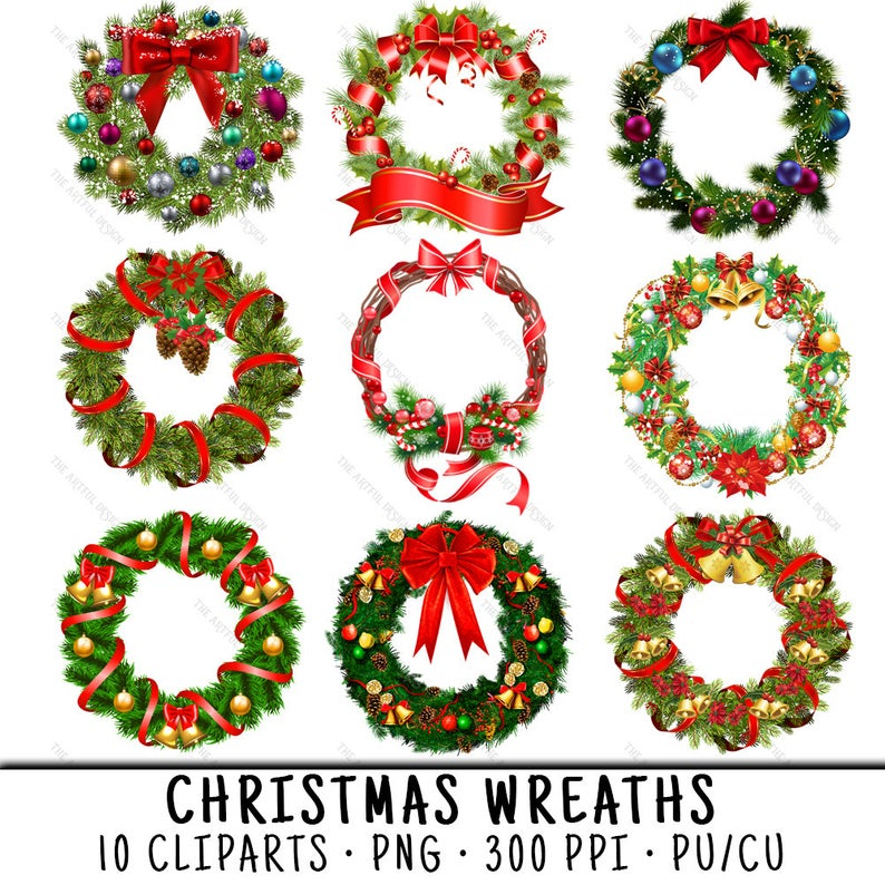 Wreath Clipart, Christmas Wreath PNG, Wreath Clip Art, PNG Christmas  Wreath, Clipart Wreath, Clipart Christmas, Wreath PNG.