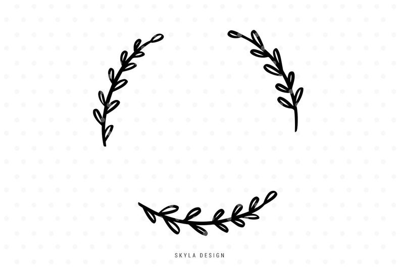 Wreath svg cut file, Svg clip art, Leaves Svg, Leaves clipart, Wreath SVG,  Flourish Svg, svg cutfile, svg cut file for cricut, silhouette.