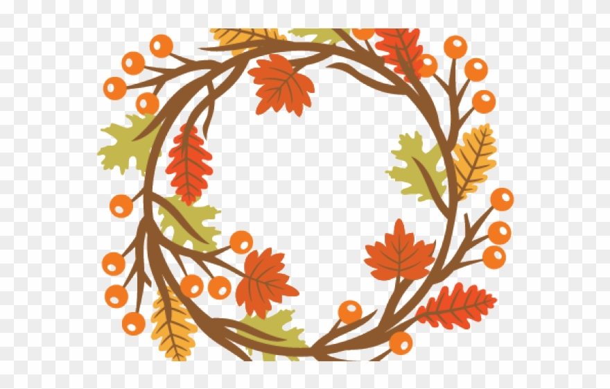 Fall Clipart Wreath.