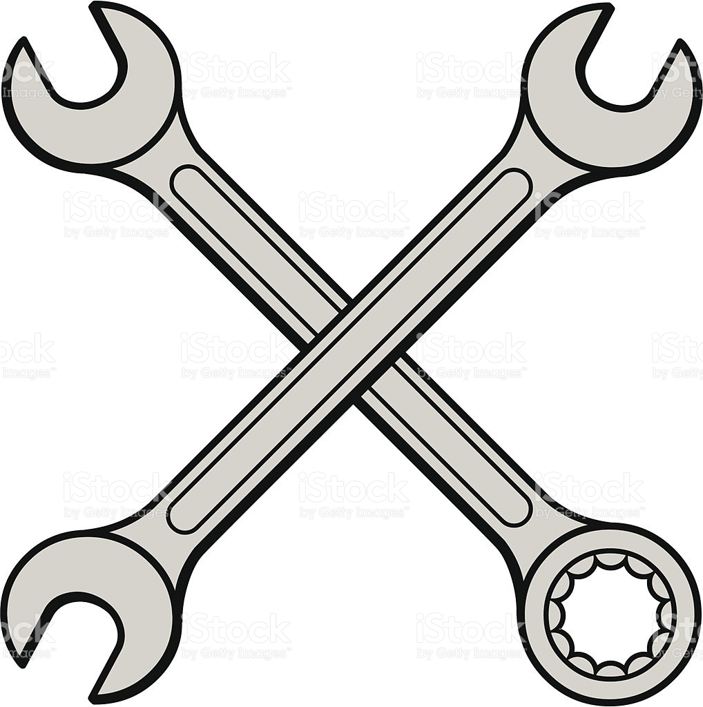 Wrench Clipart Closed End.