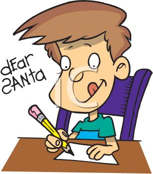 Royalty Free Clip Art Image: Cartoon of a Little Boy Concentrating.