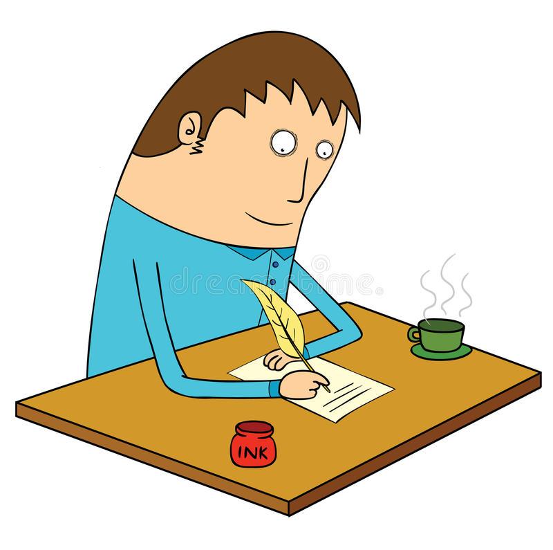 Writing Letter Stock Illustrations.