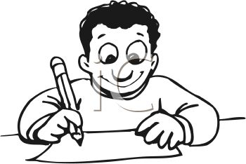 Free Write Clipart Black And White, Download Free Clip Art.