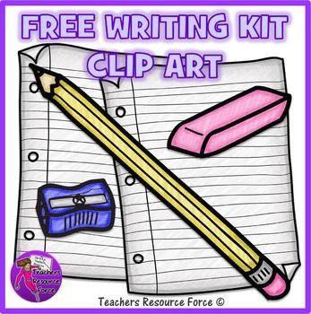 Free Writing Kit Clip Art: crayon effect.