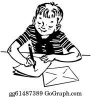 Writing Letter Clip Art.