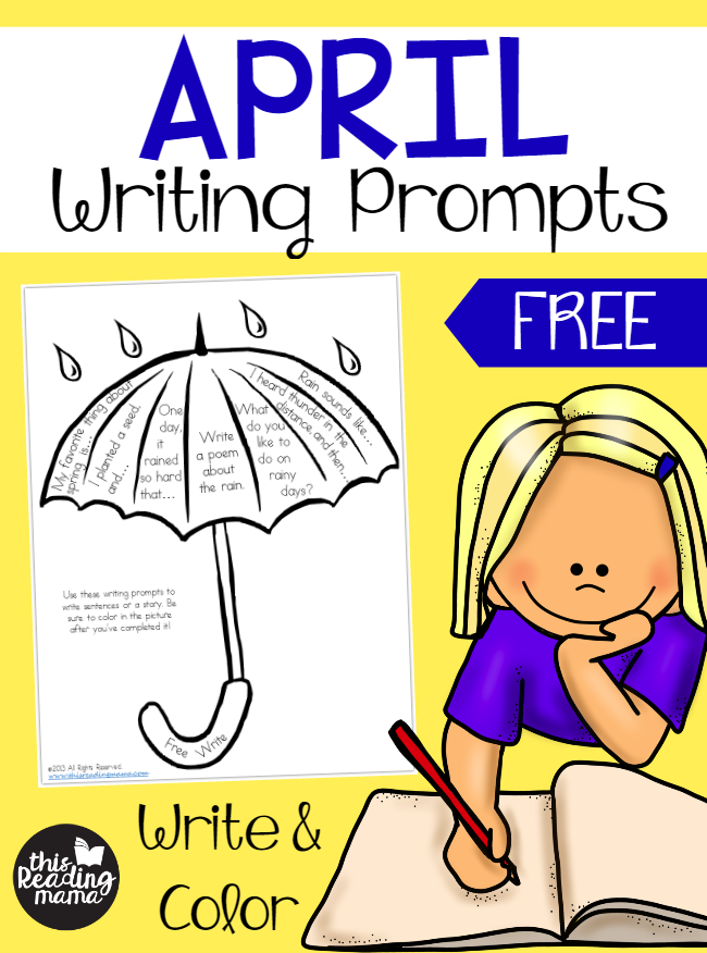 FREE Writing Prompts for April.