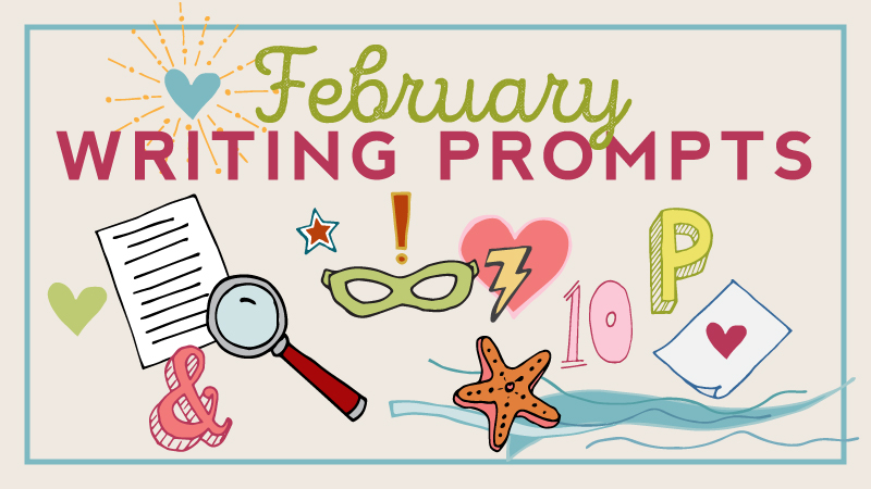 FREE DOWNLOAD: February Writing Prompts Calendar.