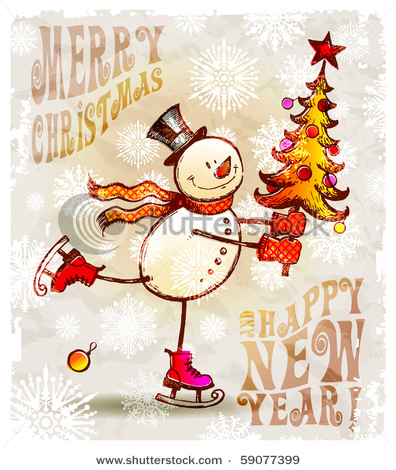 country clipart of snowmen.