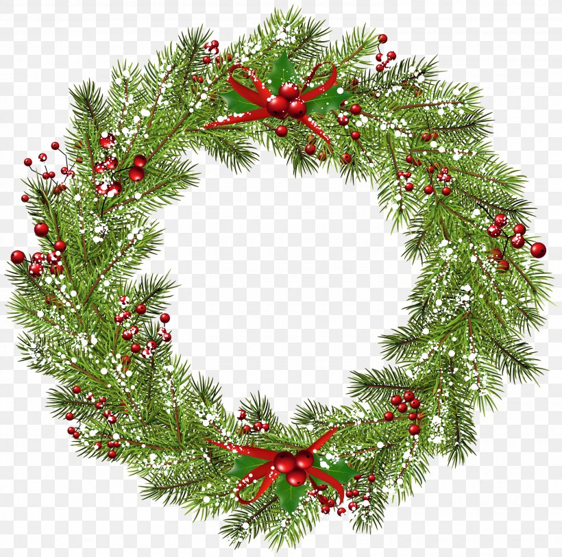 Wreath Christmas Clip Art, PNG, 3000x2976px, Christmas.