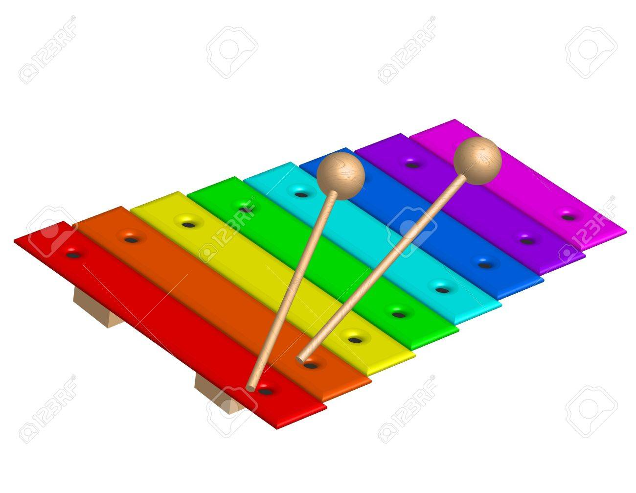 illustration of xylophone.