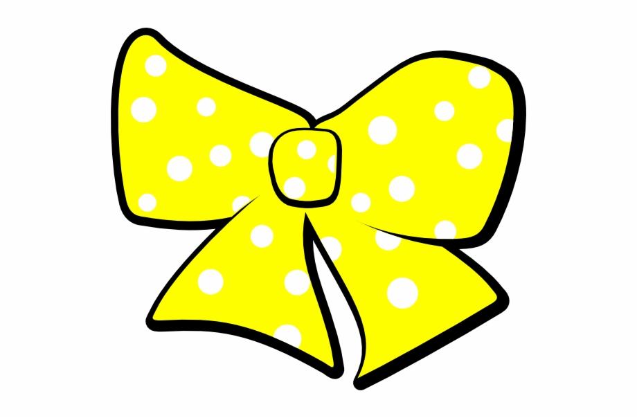 Yellow Hair Bow Clip Art.