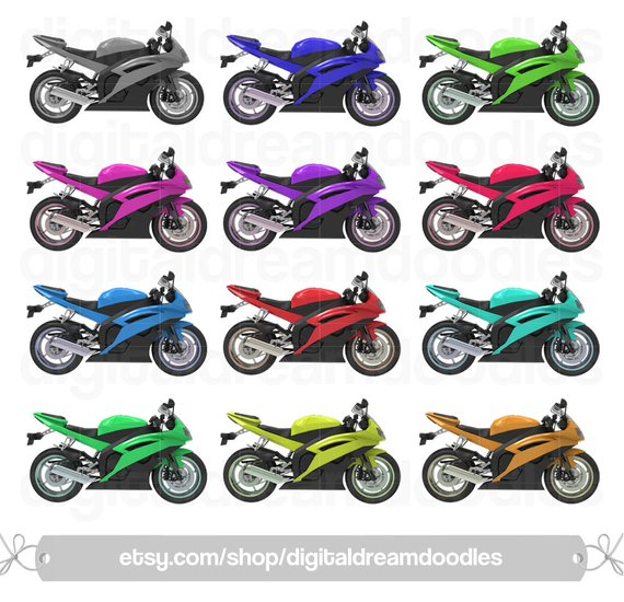 Yamaha Motorcycle Clipart, Motorcycles Clip Art, Motor Bikes Picture.