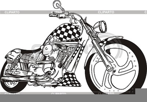 Yamaha Roadstar Motorcycle Clipart.