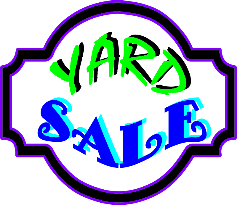 Free Clipart: Yard Sale.