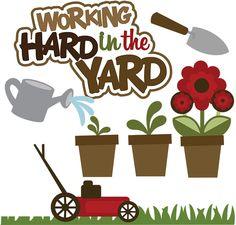 Yard Work Clipart.