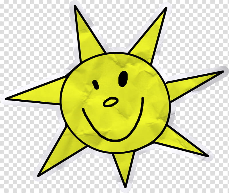 So Cute , yellow sun illustration transparent background PNG clipart.