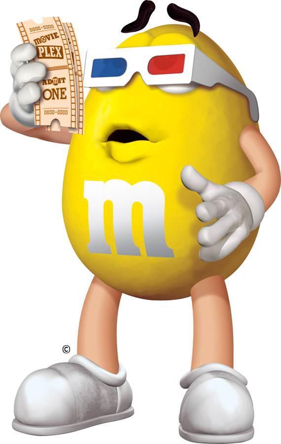 Yellow M & M's.