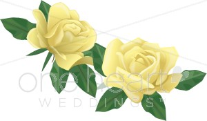 Yellow Roses Clipart.