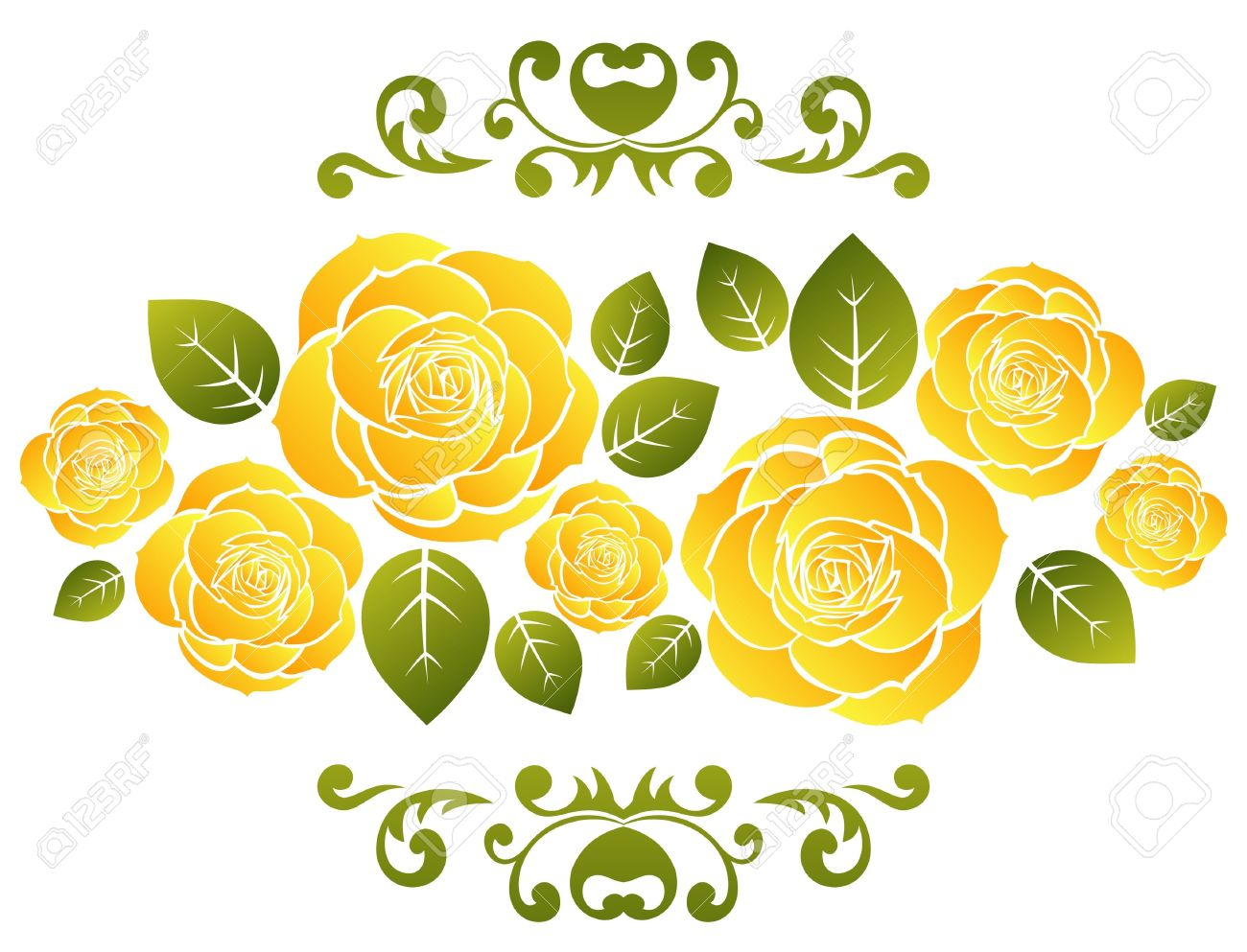 13,597 Yellow Rose Stock Vector Illustration And Royalty Free.