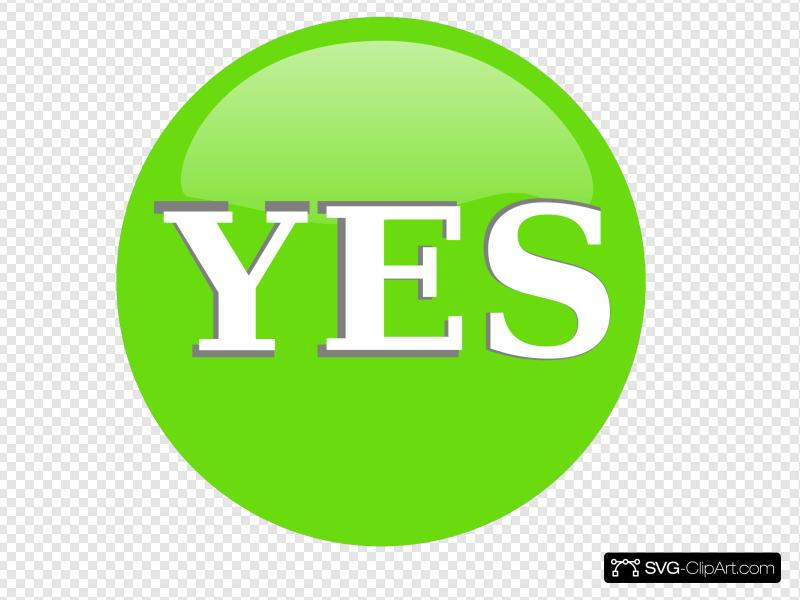 Yes Button Clip art, Icon and SVG.