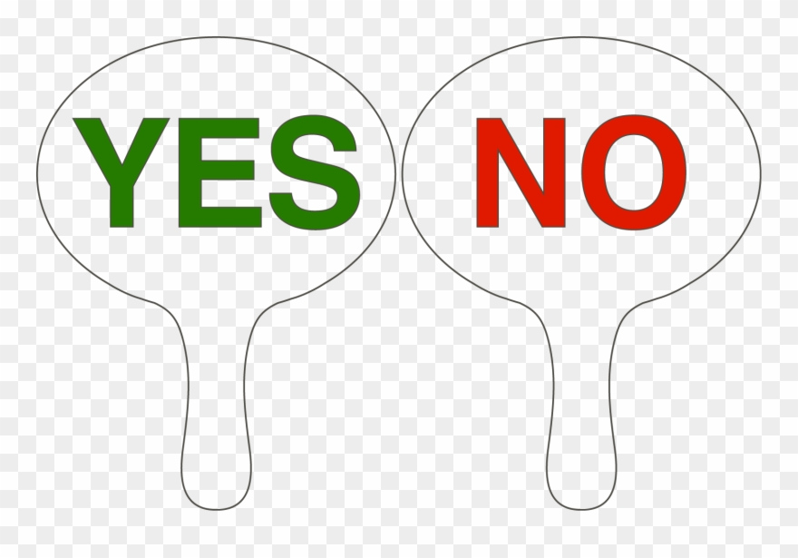 True False Yes No Voting Paddles Clipart (#3566522).