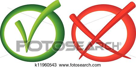 Yes no vote sign Clipart.