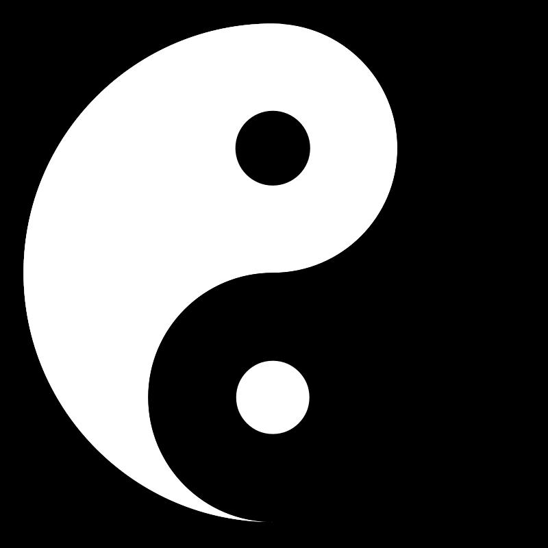 Free Clipart: Yin Yang Symbol.