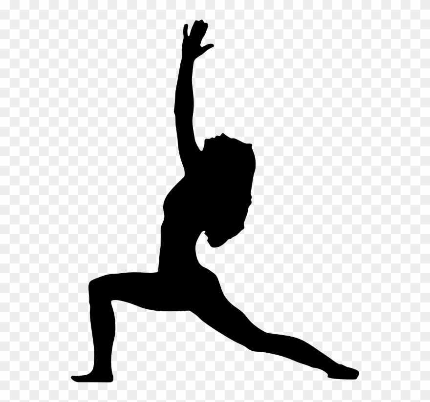 Clipart Female Yoga Pose Silhouette 4 Bee Clip Art.