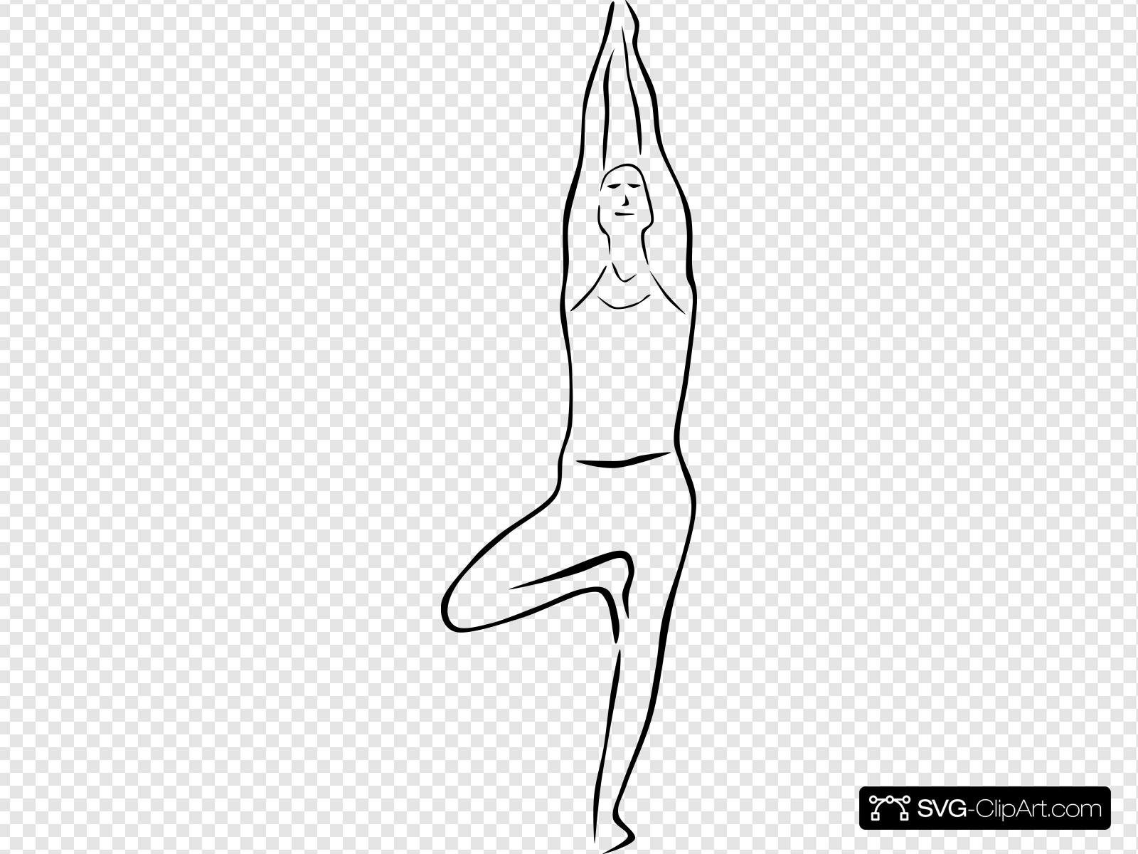 Yoga Poses Stylized Clip art, Icon and SVG.