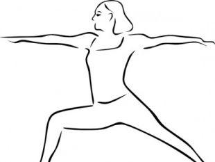 Yoga Poses Stylized clip art.