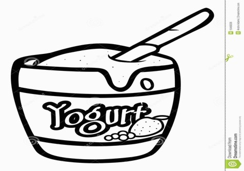 Yogurt Coloring Page Image Clipart Grig3 for Yogurt Coloring Page.