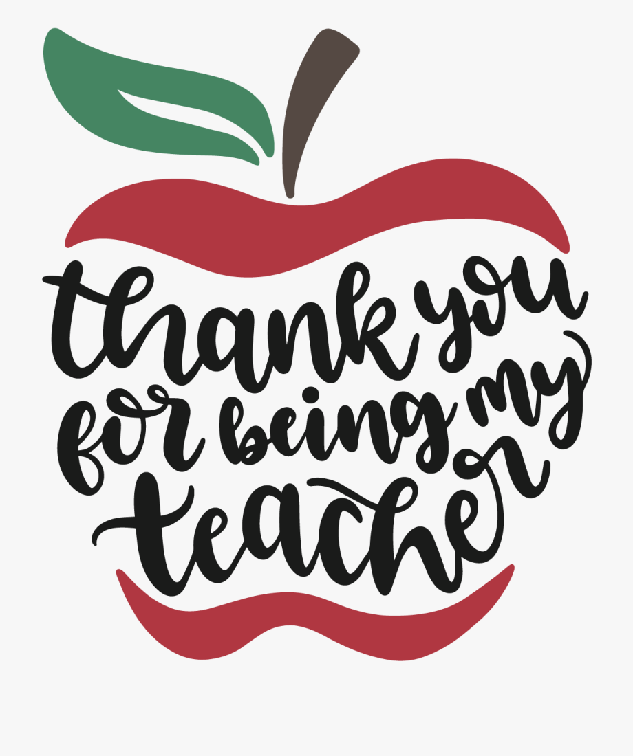Thank You Teacher Svg Clipart , Png Download.