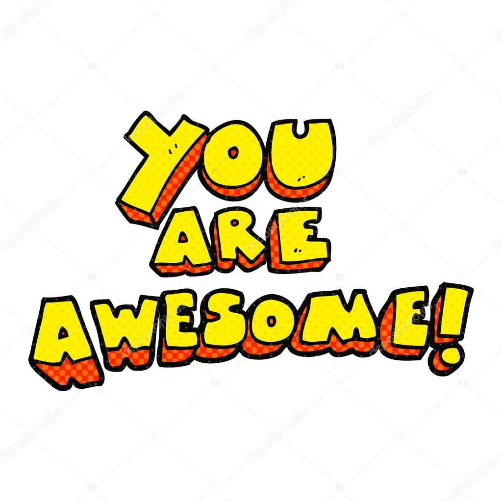 Clipart: you are awesome clip art.