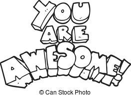 You are awesome Vector Clip Art Royalty Free. 122 You are awesome.